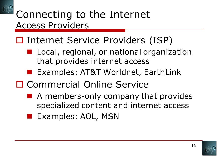 Best options for internet access