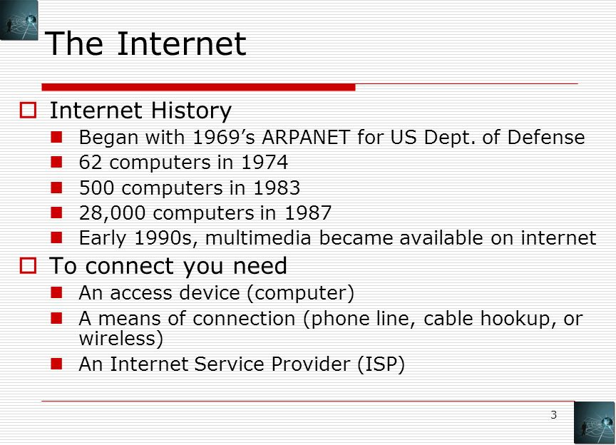 An introduction to internet access in the world