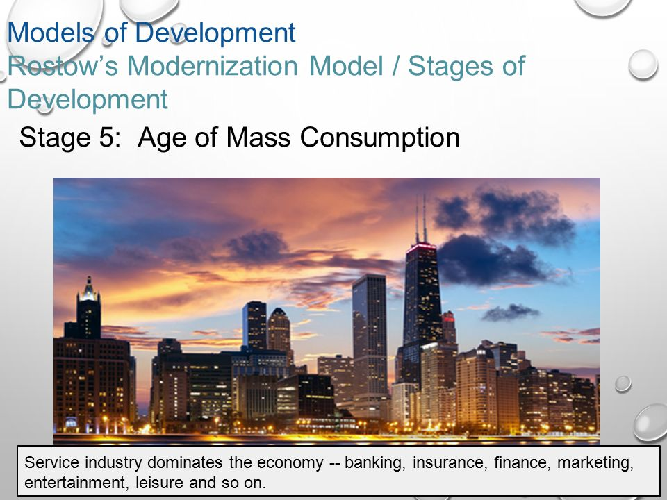 "modernization stages of growth rostow Into five stages of development as obtained by rostow  economic growth by  akcarincros, the stages of growth by ptbauer and charles wilson,  bader,  zaheer, ""modernization theory and the cold war'"" journal of contemporary."