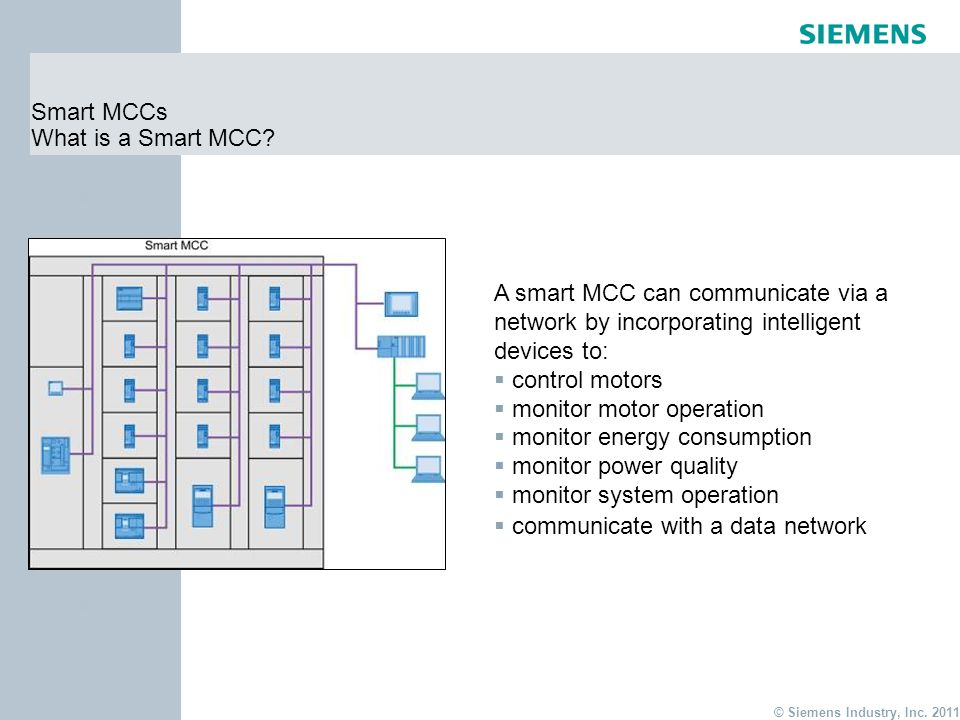 Energy Use Monitoring Systems : Siemens tiastartm motor control center mcc ppt video
