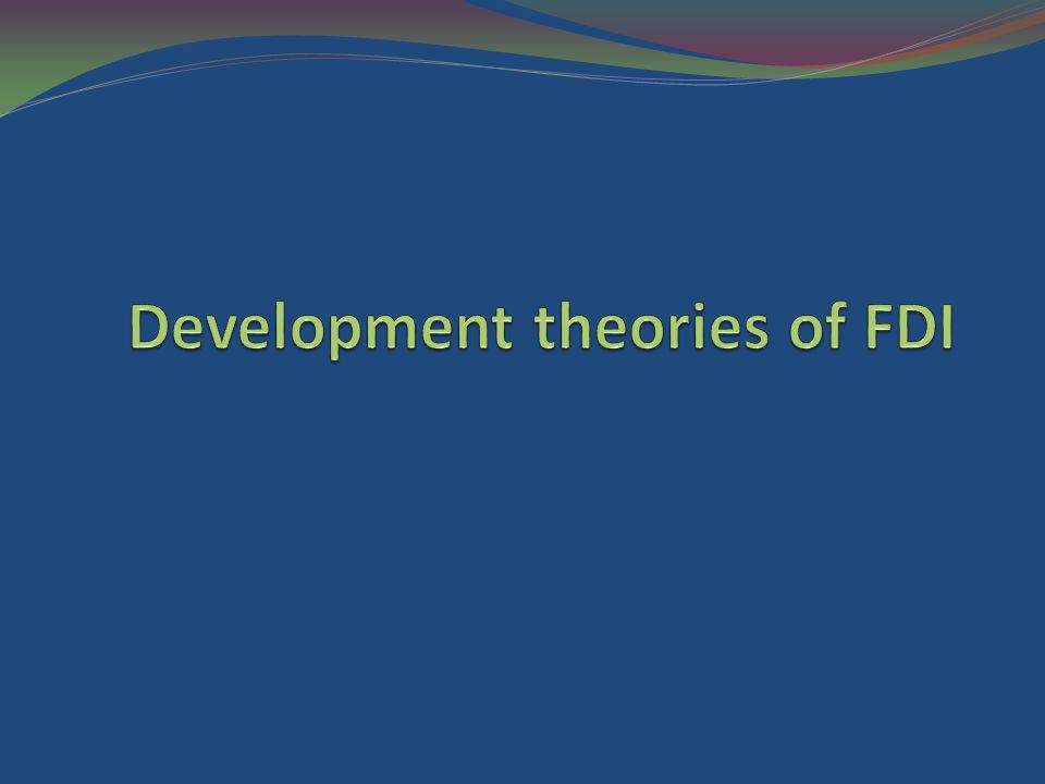 determinant of fdi The caribbean receives some of the highest levels of foreign direct investment (fdi) in the world, with many economies having fdi to gdp ratios above 10 per cent in 2012.