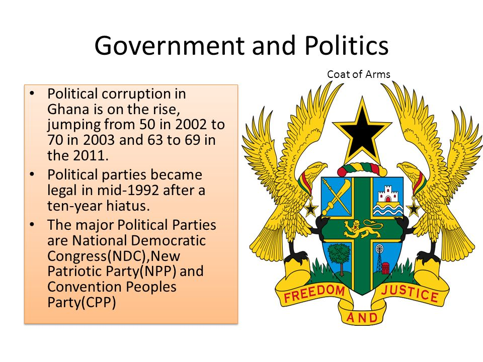 politics in ghana The process of becoming informed about politics looks more like a web than a  linear set of steps you slowly build off what you learn it's a slow process so just.