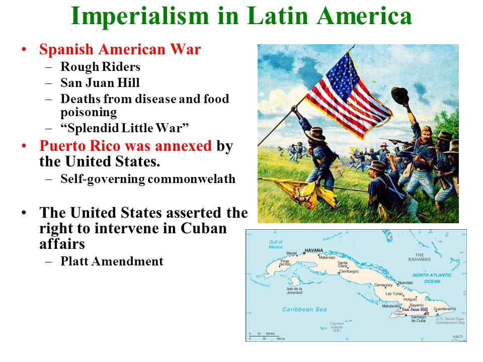 united states and the spanish american Causes of the spanish american united states was sympathetic to cuba as they were fighting against the colonial old powers effects of the spanish american war.