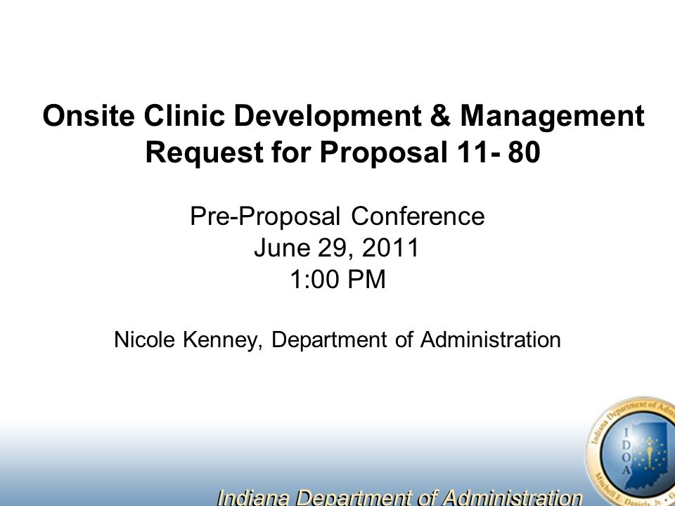 Onsite Clinic Development U0026 Management Request For Proposal 11  80