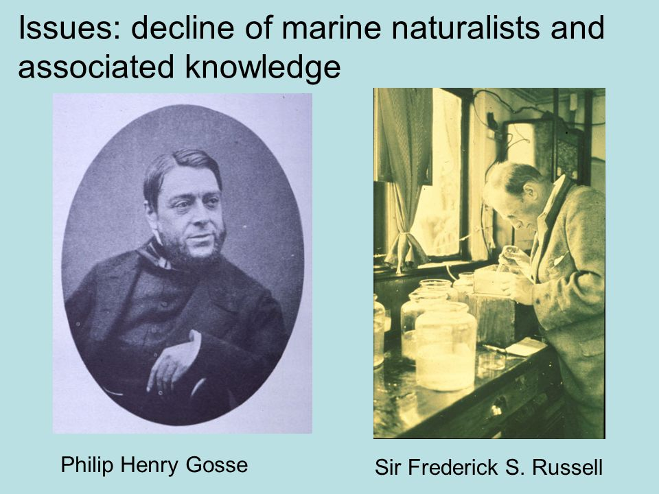 Issues: decline of marine naturalists and associated knowledge