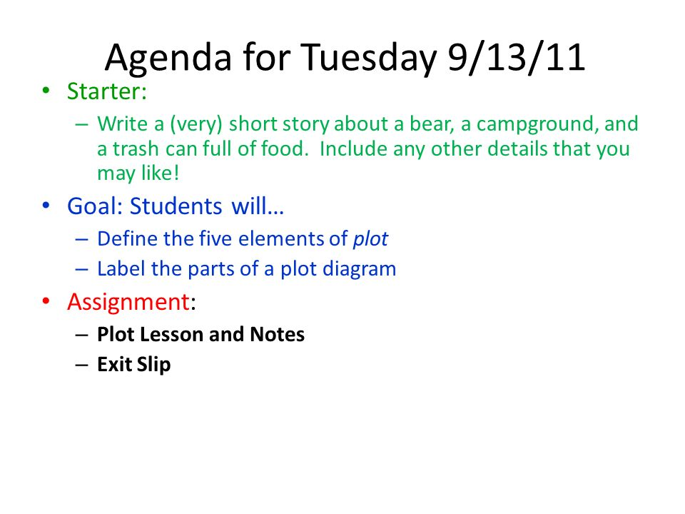 Agenda for thursday 92911 starter ppt download agenda for tuesday 91311 starter goal students will assignment ccuart Choice Image