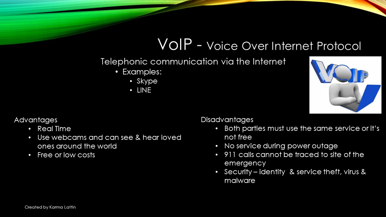 advantages and disadvantages of voip Electronic communication - ppt download