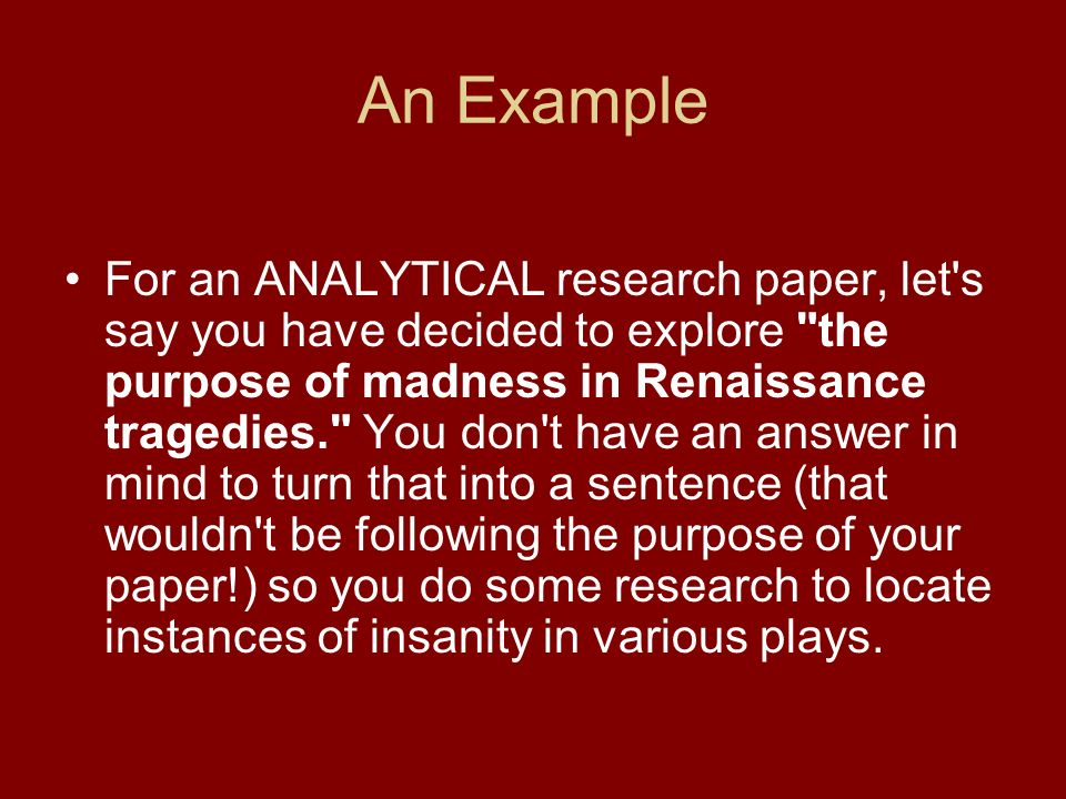 research papers - analytical purpose 06 the purpose of applying analytical procedures in planning the audit is to assist in planning the nature, timing, and extent of auditing procedures that will be.