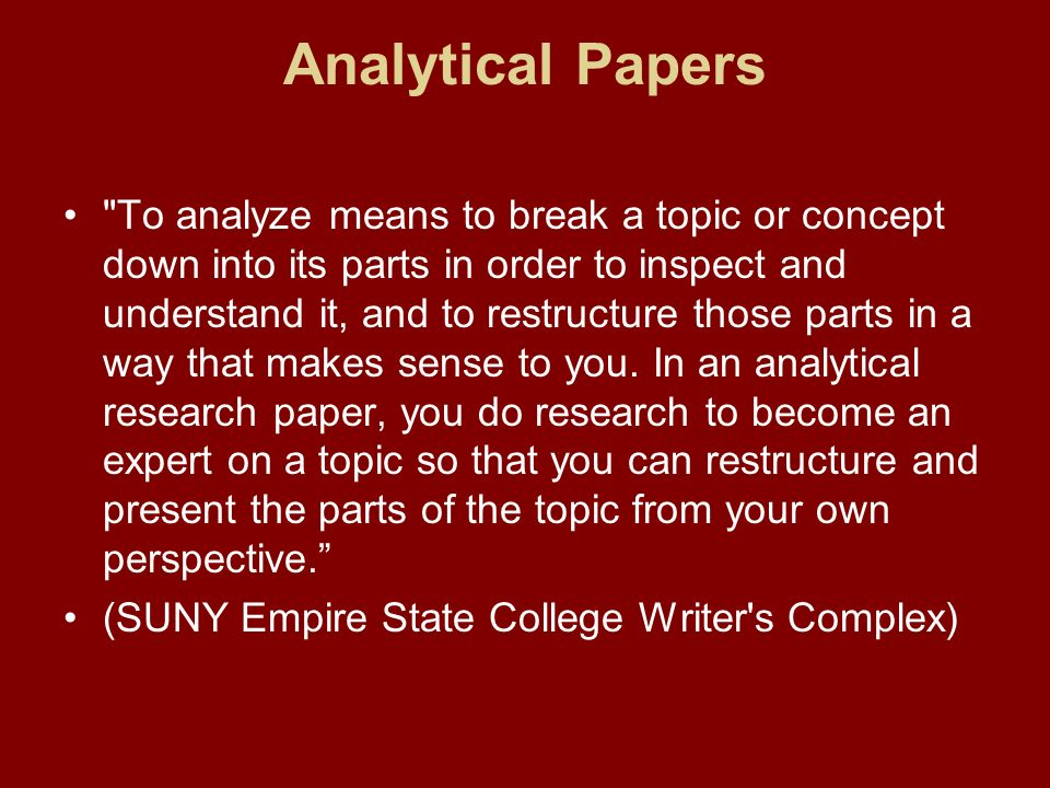 research papers - analytical purpose Analytical research papers  and why was the cold war inevitable essay 500 word essay due tomorrow l assommoir bernard critique essay what is the purpose of.