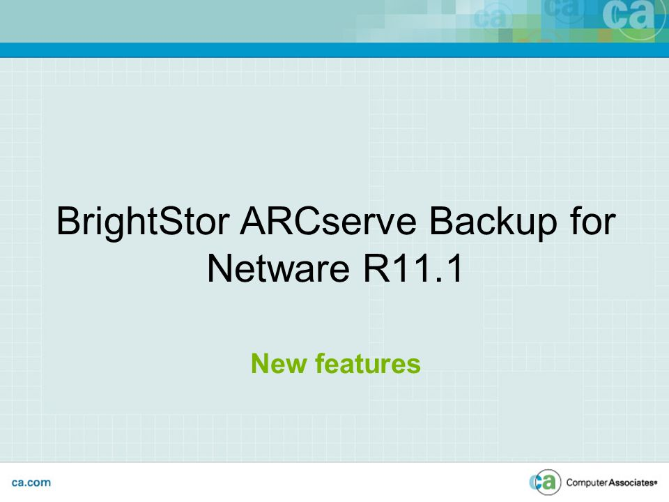 Ca brightstor arcserve backup r11.1 for netware agent for groupwise 5.x and below