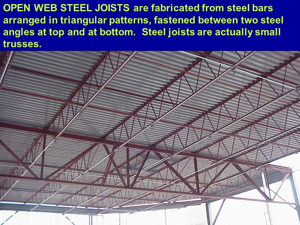 59 steel joist roof plan goodbye wood deck framing u2026 for Open web trusses