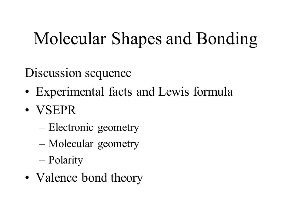 molecular structure and covalent bonding theories ppt