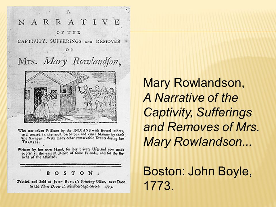 Comparing anne bradstreet and mary rowlandson
