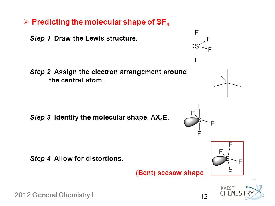 how to draw seesaw molecular geometry