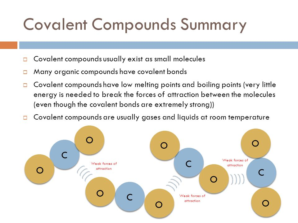 Are Covalent Compounds Gases At Room Temperature