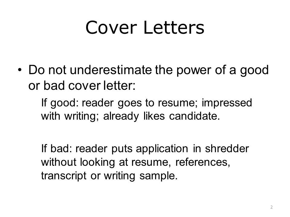 Cover letter writing workshop ppt video online download for What goes into a good cover letter