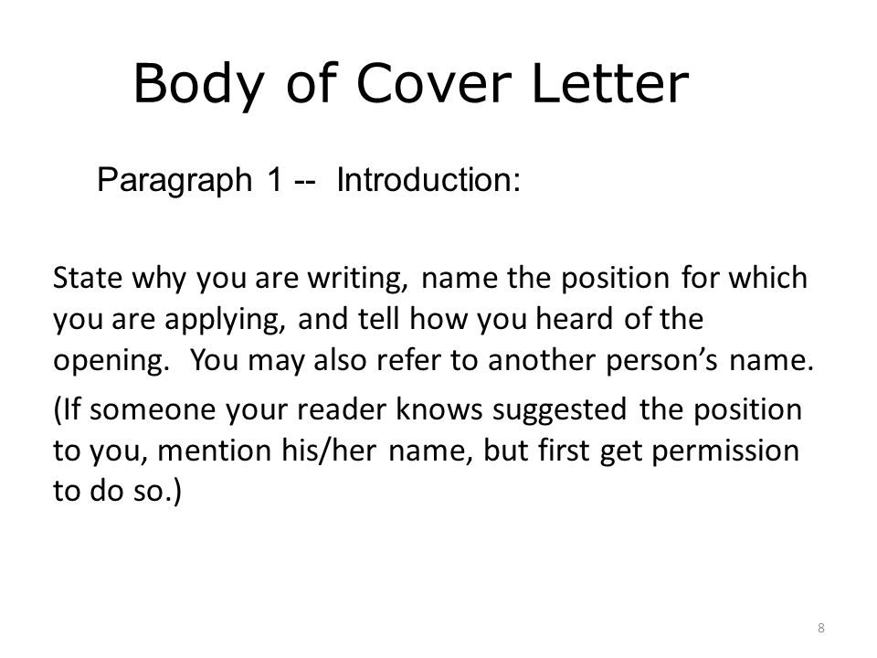 one paragraph cover letter - cover letter writing workshop ppt video online download