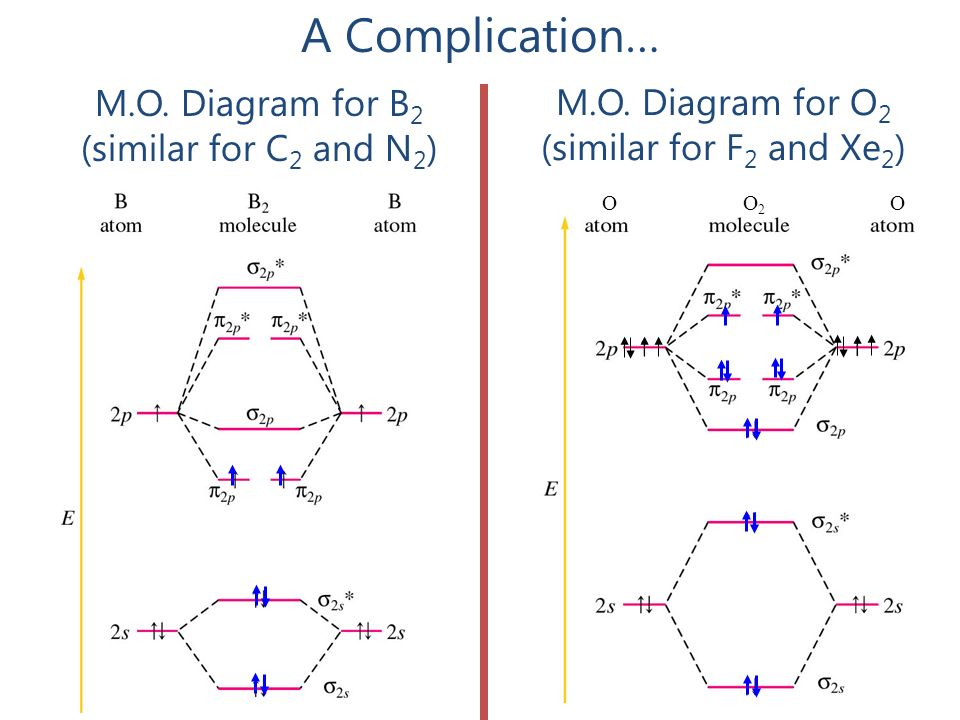 What do molecules look like ppt download mo diagram for b2 similar for c2 and n2 sciox Image collections