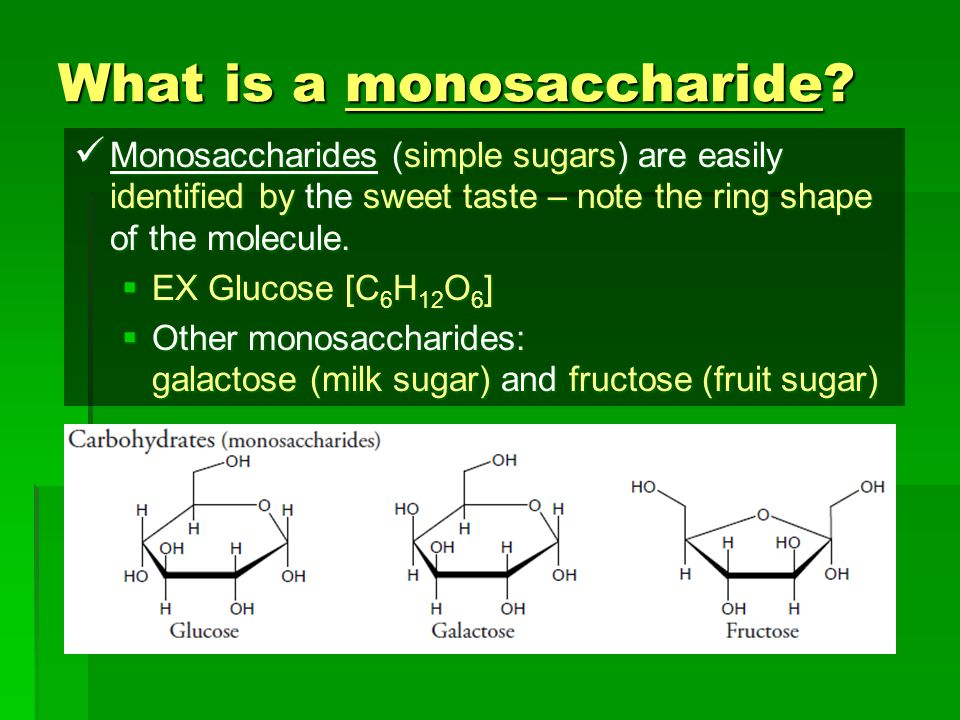 What is a monosaccharide