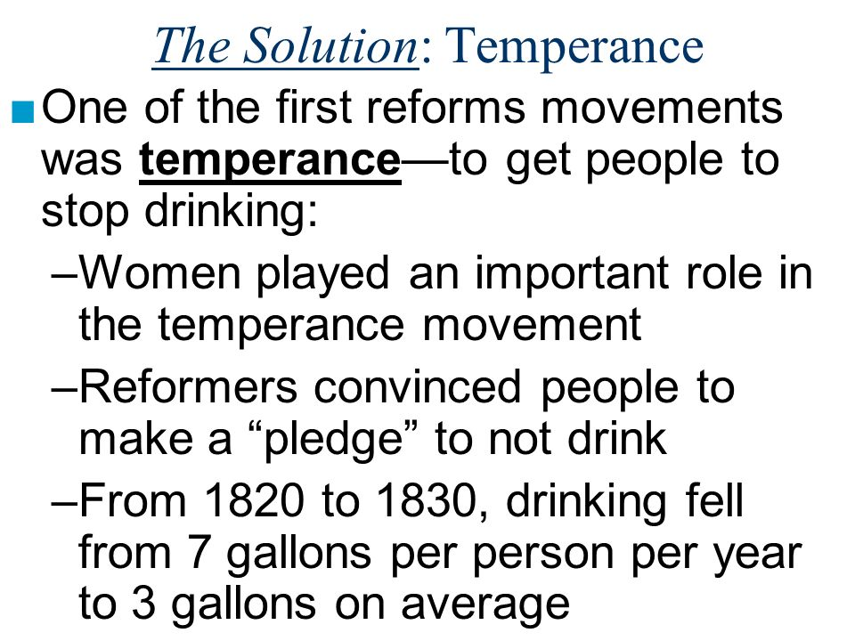 The Solution: Temperance