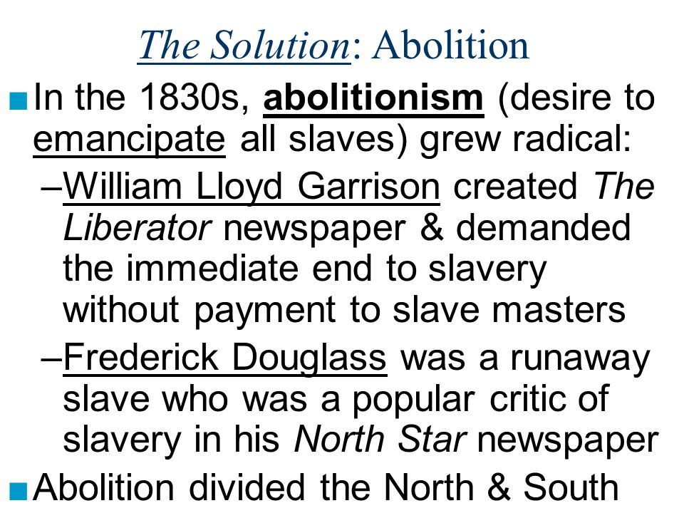 The Solution: Abolition
