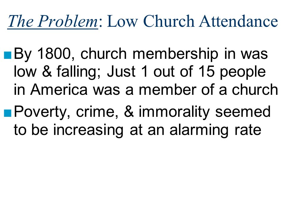 The Problem: Low Church Attendance
