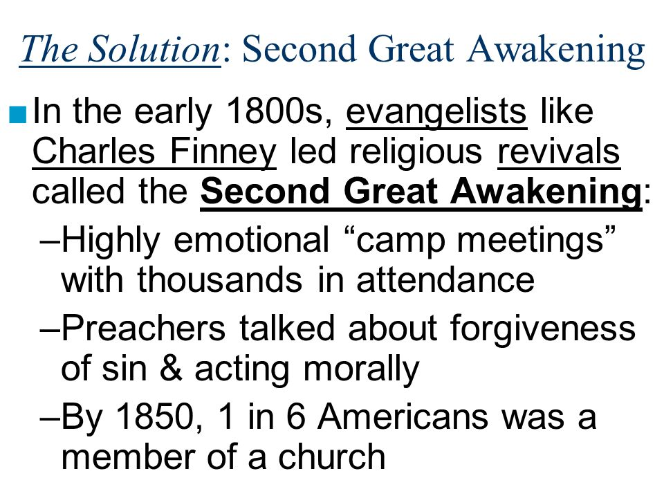 The Solution: Second Great Awakening