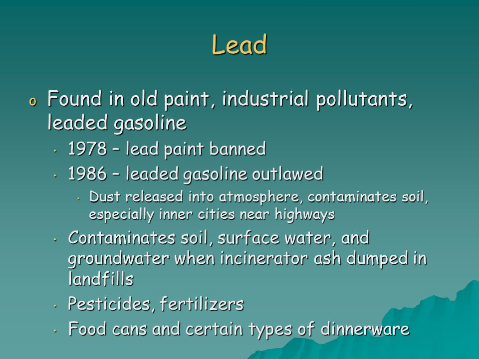 Chapter 22 water pollution ppt video online download for When was lead paint banned