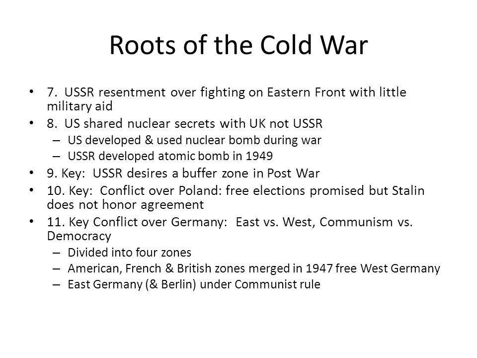 roots of the cold war 0801 roots of the cold war: assessment what books, movies, cartoons, or posters did you see that villainized either country, capitalists, communists.