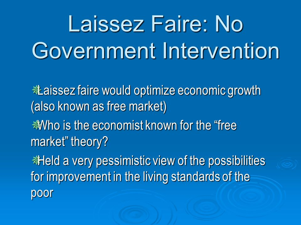 """an introduction to the government intervention in individual markets Lecture 1: course description and introduction econ 2230 course description   introduction: role of government  provided complete markets, perfect  competition, complete  government intervention: individuals may not be ' rational"""" as."""