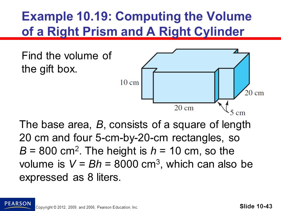 how to find the volume of a cylinder in cm