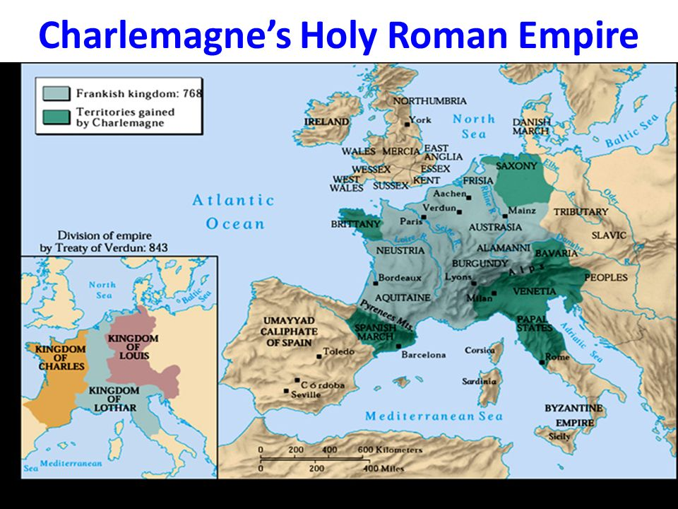 fall of charlemagnes holy roman empire gave birth to feudalism