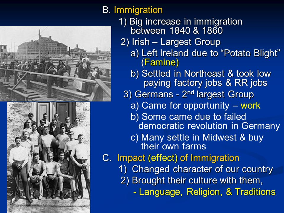 irish migration between 1840 and 1860 The million irish immigrants who came to america were survivors of the great irish famine (1845-1852) and could be both tenacious and incredibly brutal, as events in 1862-1863 would show from 1830 until 1860, relatively few immigrants settled in the south.