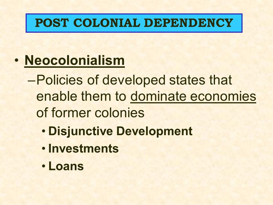 postcolonial dependency Keywords china in africa, dependency theory, geopolitics, international and  cross-cultural management, management and organizational knowledge,.