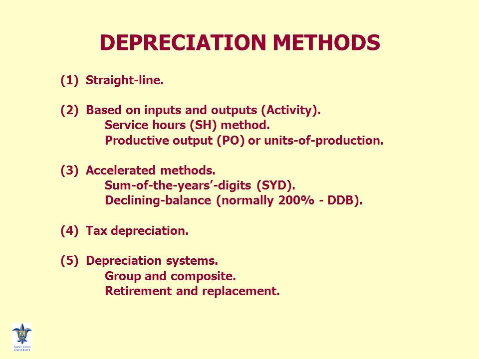 depreciation method