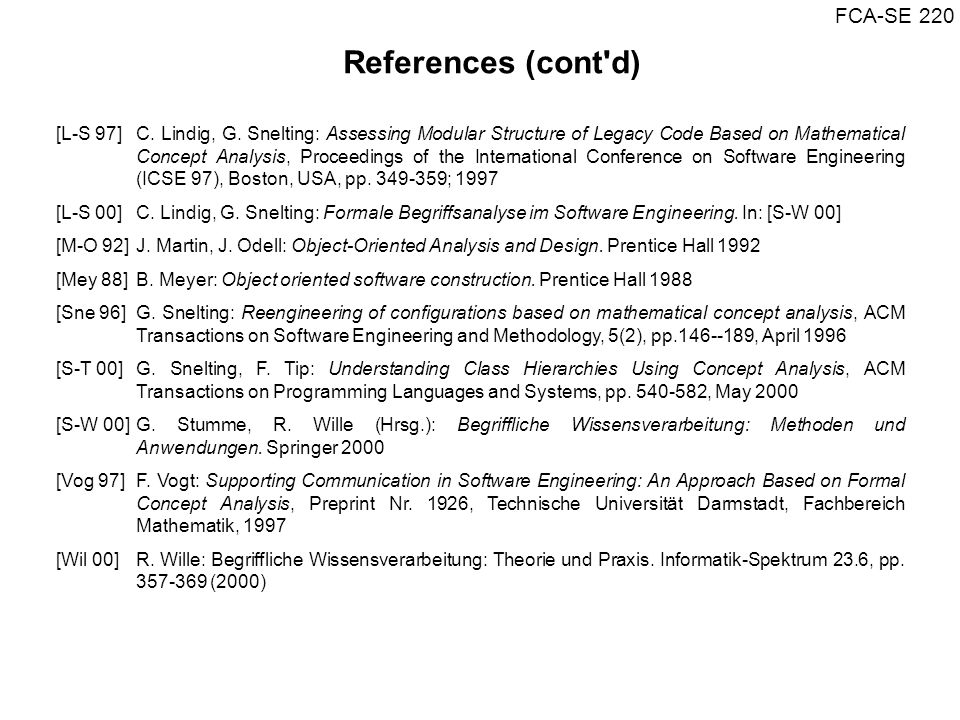 References (cont d)