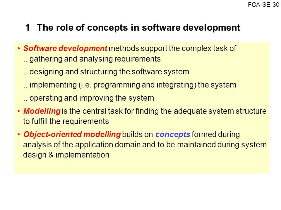 1 The role of concepts in software development