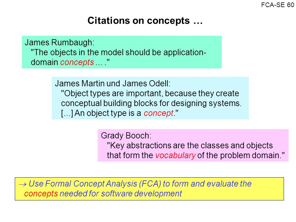 Citations on concepts …