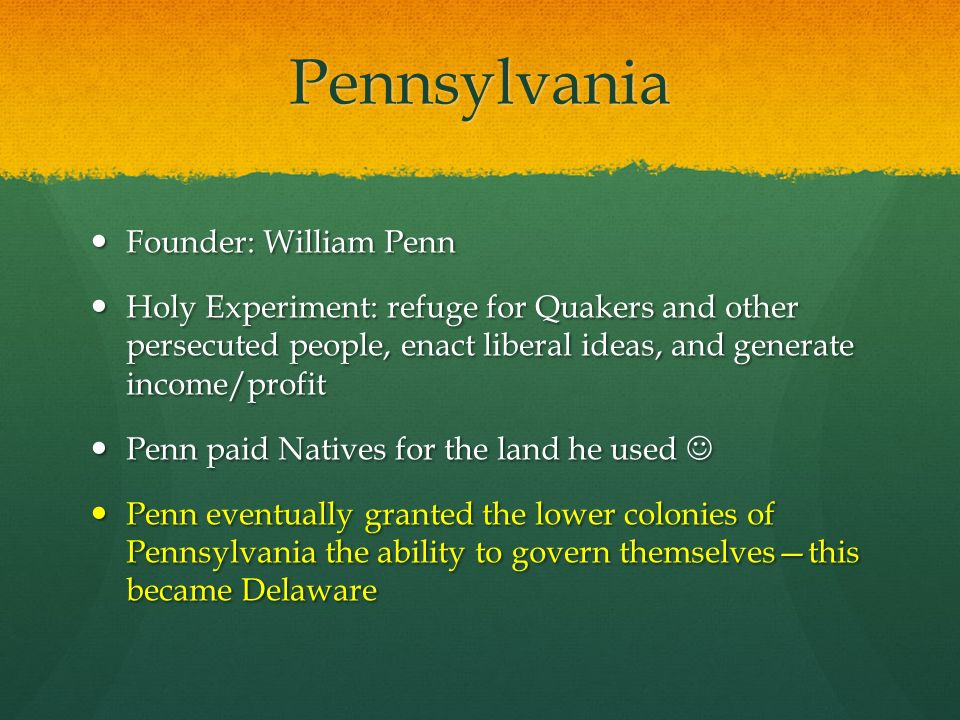 william penn holy experiment