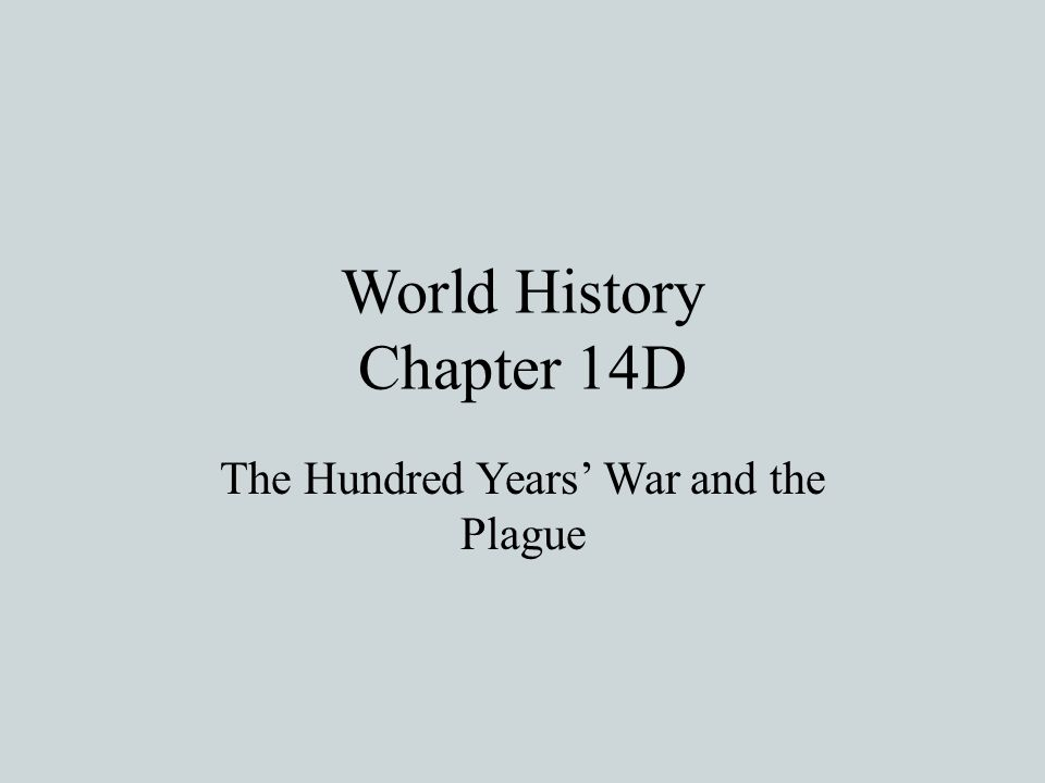 World History Chapter 14D