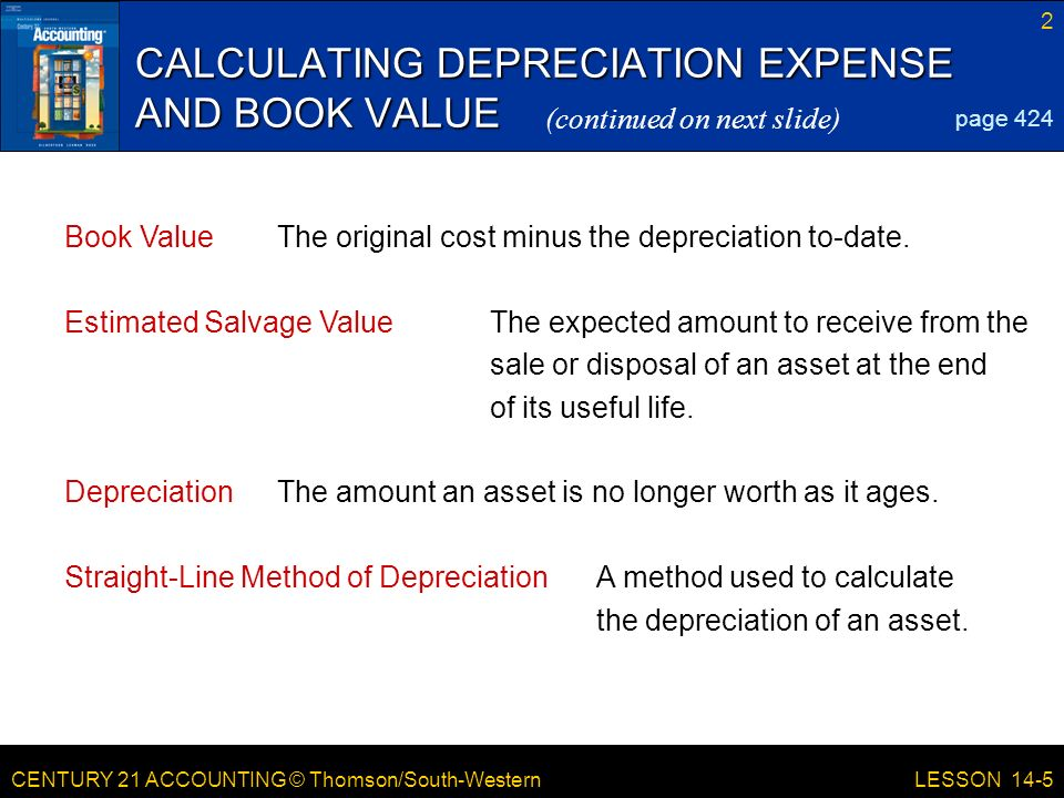 calculate straight line depreciation