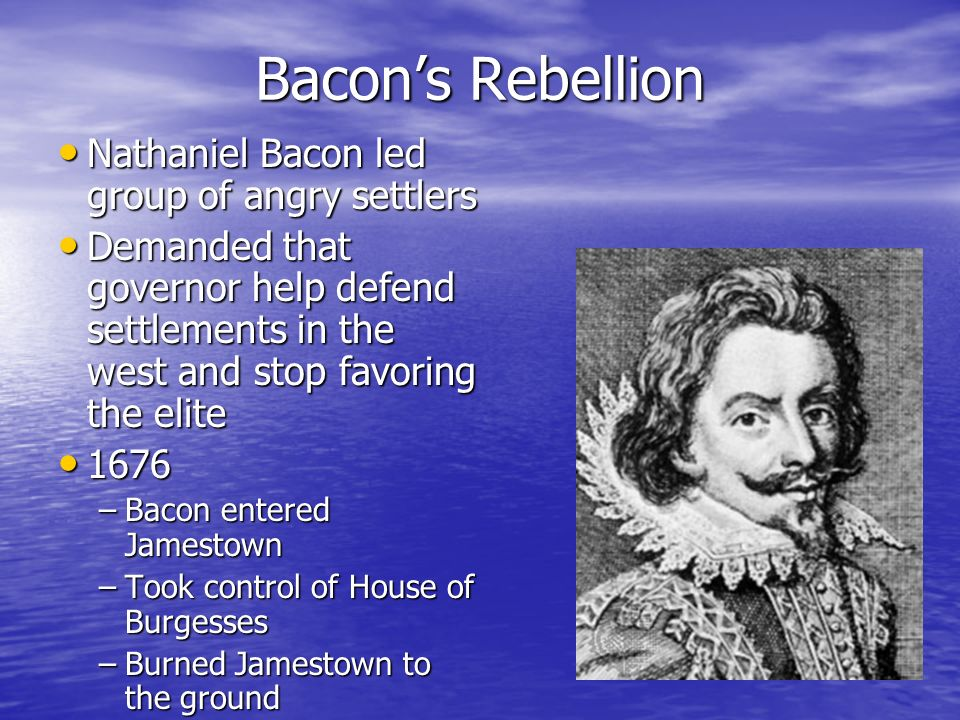 nathaniel bacon If this little book speaks the truth, nathaniel bacon will be no longer regarded as a rebel, but as a patriot his name will be rescued from the infamy which has.