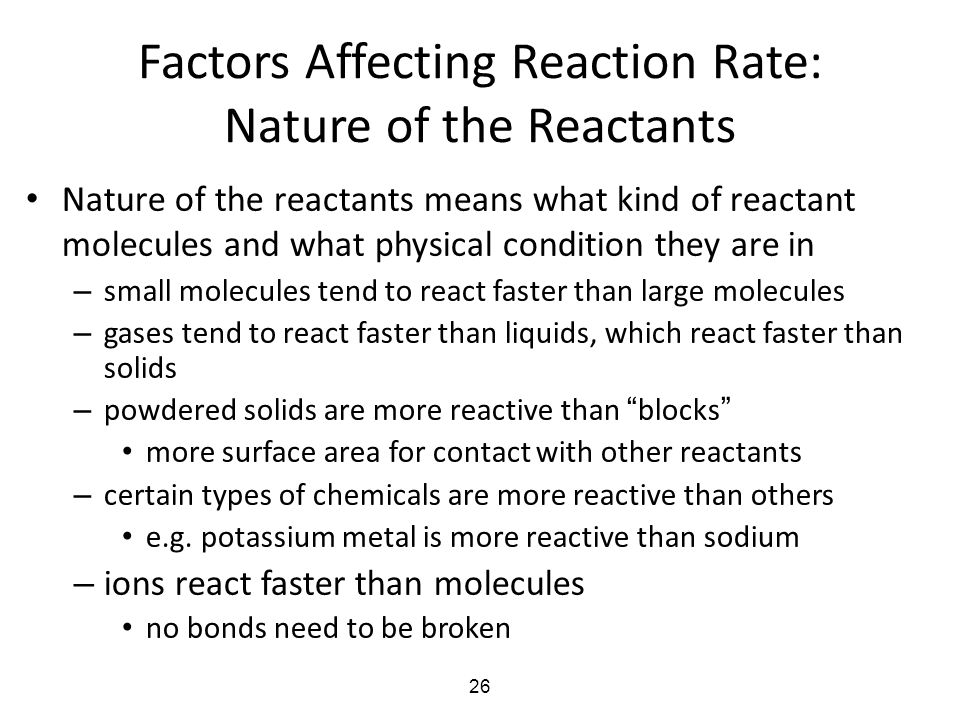 factors affecting the rate of chemical reaction pdf