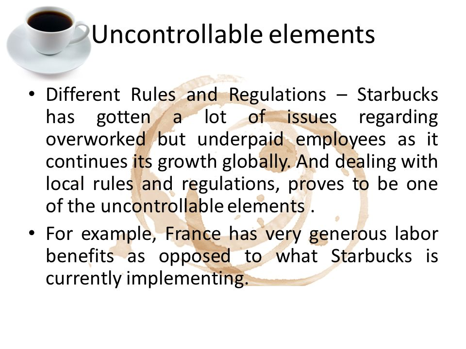 uncontrollable elements International marketing task (what are those controllable elements and uncontrollable elements in domestic market and foreign market.