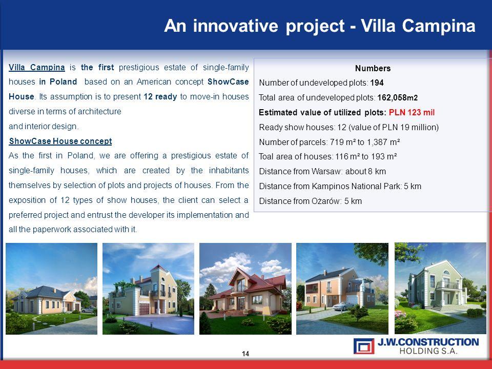 An innovative project - Villa Campina