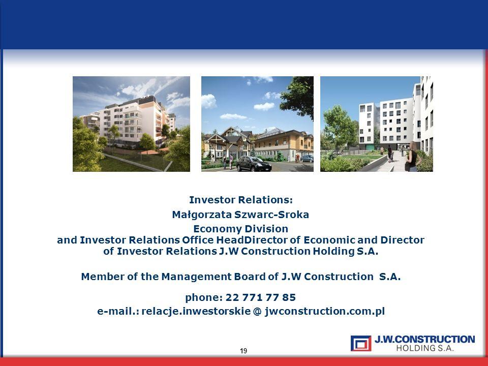 Małgorzata Szwarc-Sroka Economy Division