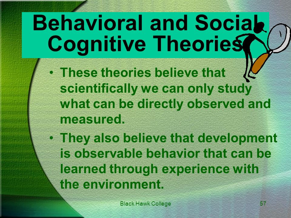 comparing behavioral theories and cognitive theories Comparison of cognitive, behavioural and social theories is a cognitive abilities -developed a socio-cultural approach to cognitive development comparing.