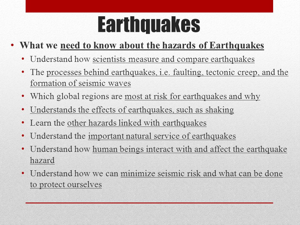 Understanding the causes and effects of an earthquake