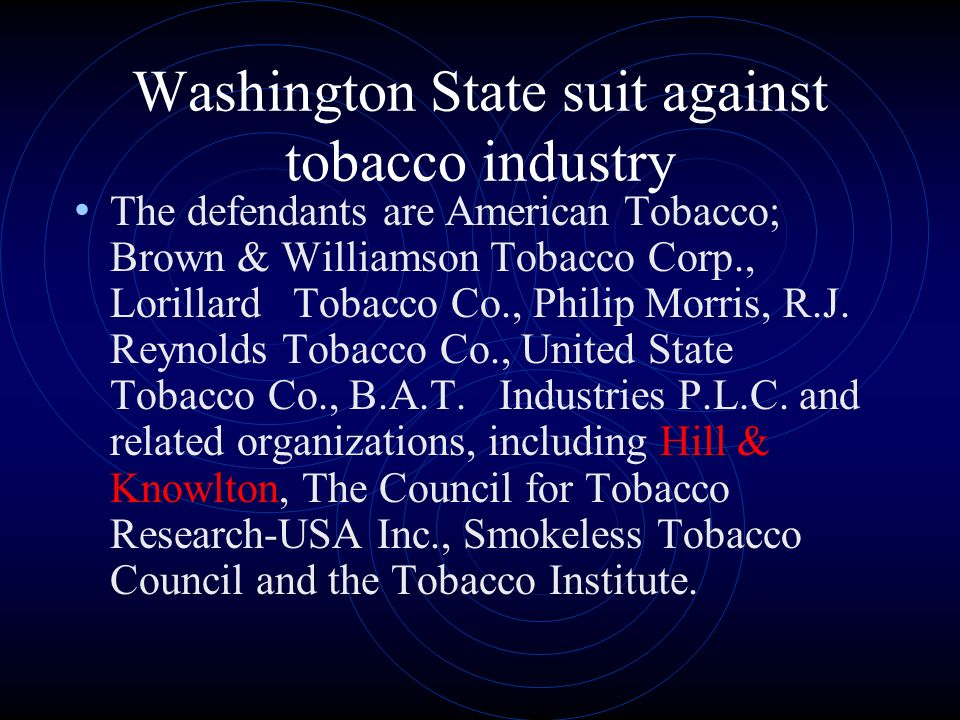 The History Of Tobacco Lawsuits
