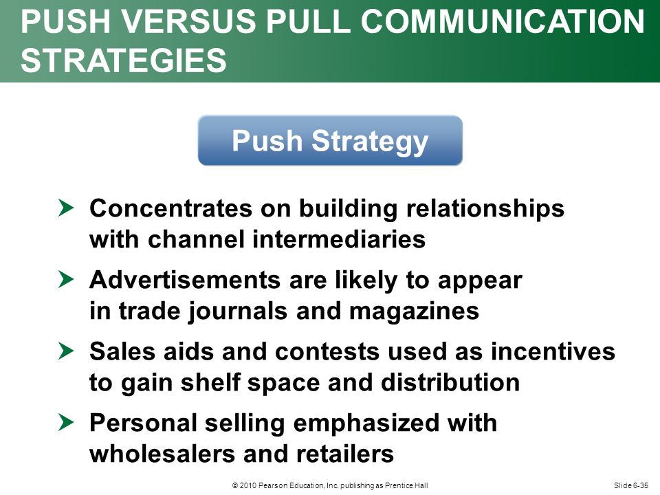 push and pull relationship strategy marketing